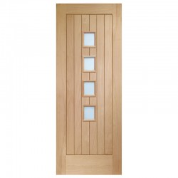 Suffolk 4 Light Internal Oak Door with Obscure Glass