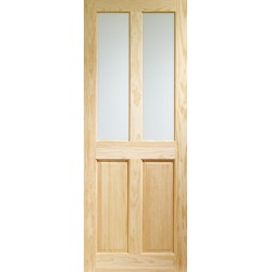 Clear Pine Victorian 2P/2L Internal Door with Clear Glass - XL Joinery