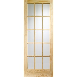 Clear Pine SA77 Internal Door with Clear Glass - XL Joinery